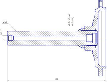 Вал с подкачкой ведомой шестерни колесного редуктора заднего моста 469-2407125-03-VR